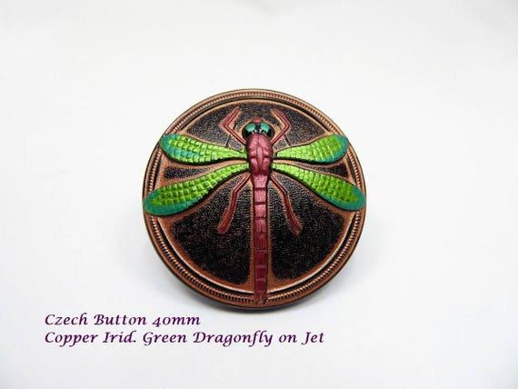 Dragonfly Czech Button per piece