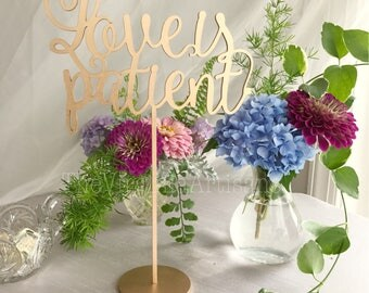 Words Table Numbers - Love Attributes Signs Set  - Set of 14 - Table Numbers- Table Signs