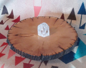 Ancient Elder Rocky Mountain Bristlecone Pine Wood Slab Live Edge Handpolished Stand Altar Table Shelf Tray Crystal Grid Display Holder 9""