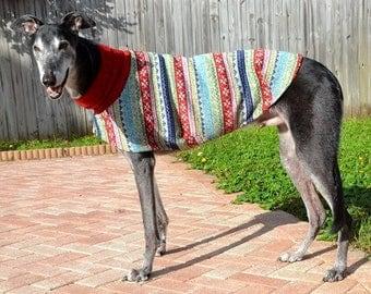 Greyhound Sweater. Ugly Christmas Sweater. Dog Christmas Sweater. Dog Sweater. Dog Clothes. Greyhound Coat. Dog Clothing. Dog Apparel