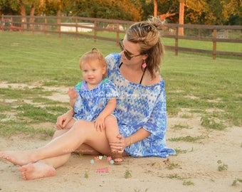 Swim Cover Up, Swimsuit Cover up, Beach Dress, Mommy and Me swim cover up