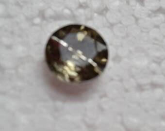 Amber gray round rhinestone 20mm buttons