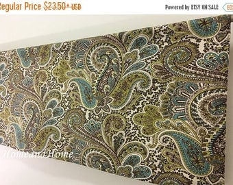 Weekend Sale Valance / 2 panels Cafe curtains / Paisley valance / Kitchen valance/ Unlined or lined /Kitchen Cafe curtains / Topper Window V