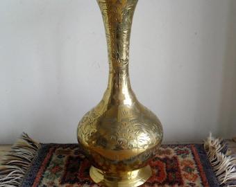 Elegant Brass Vase Etsy