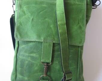 Waxed Canvas Bag, Mens Crossbody Bag, Waxed Canvas Purse, Shoulder Bag, Waxed Canvas Pouch, Waxed Canvas Travel Bag, Bag Men, Everyday Bag