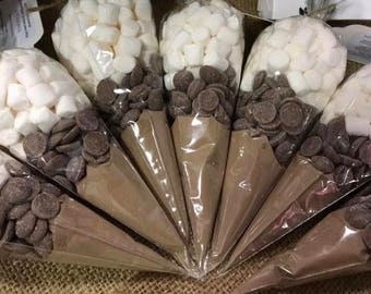 5 x Luxury hot chocolate cone