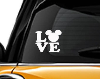 Mickey Mouse decal, FREE SHIPPING, Yeti decal, white vinyl decal, #disney, love decal, car decal sticker, home decor, laptop sticker #176