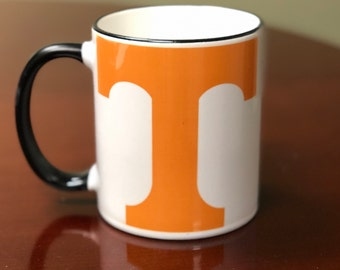 Tennessee mug, college decor, coffee mug, Volunteer fan, football fan, personalized mug, custom mug