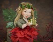 Christmas fairy doll Christmas elf doll Christmas art doll Christmas decoration fairy figurine handmade dolls porcelain doll LIMITED EDITION