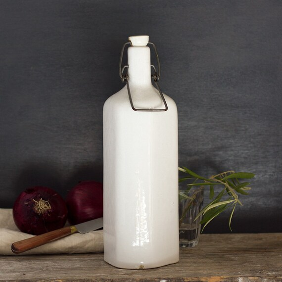 French Stoneware Oil Bottle