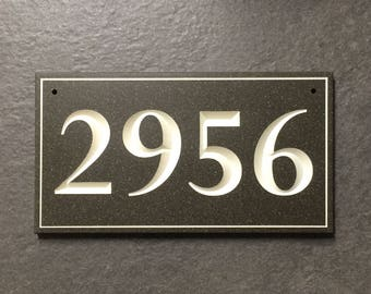 Customizable Engraved House Number Sign