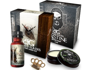 Valhalla Every Day Carry Comb Kit: Beard Oil, Balm, Conditioner & BONUS FREE Mini Balm Comb ***Limited Time Offer Sale***