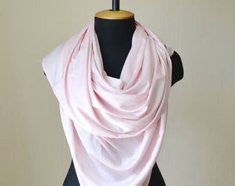 wedding shawl wedding gift|for|wife gift silk scarf blush pink scarf bridal shawl wedding wrap bridesmaid shawl summer scarf woman shawl