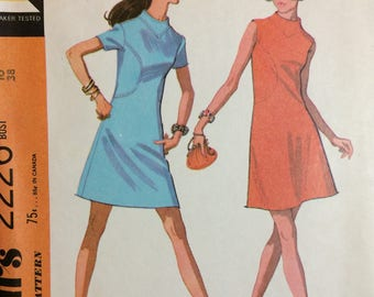 McCall's Vintage A-line Dress Sewing Pattern