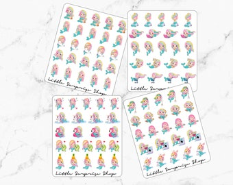 Kawaii Busy Girl Stickers// Milly The Mermaid