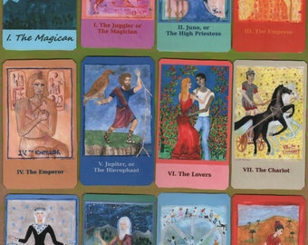 Fiery Wands Tarot: hand-made classic-size deck, in stock