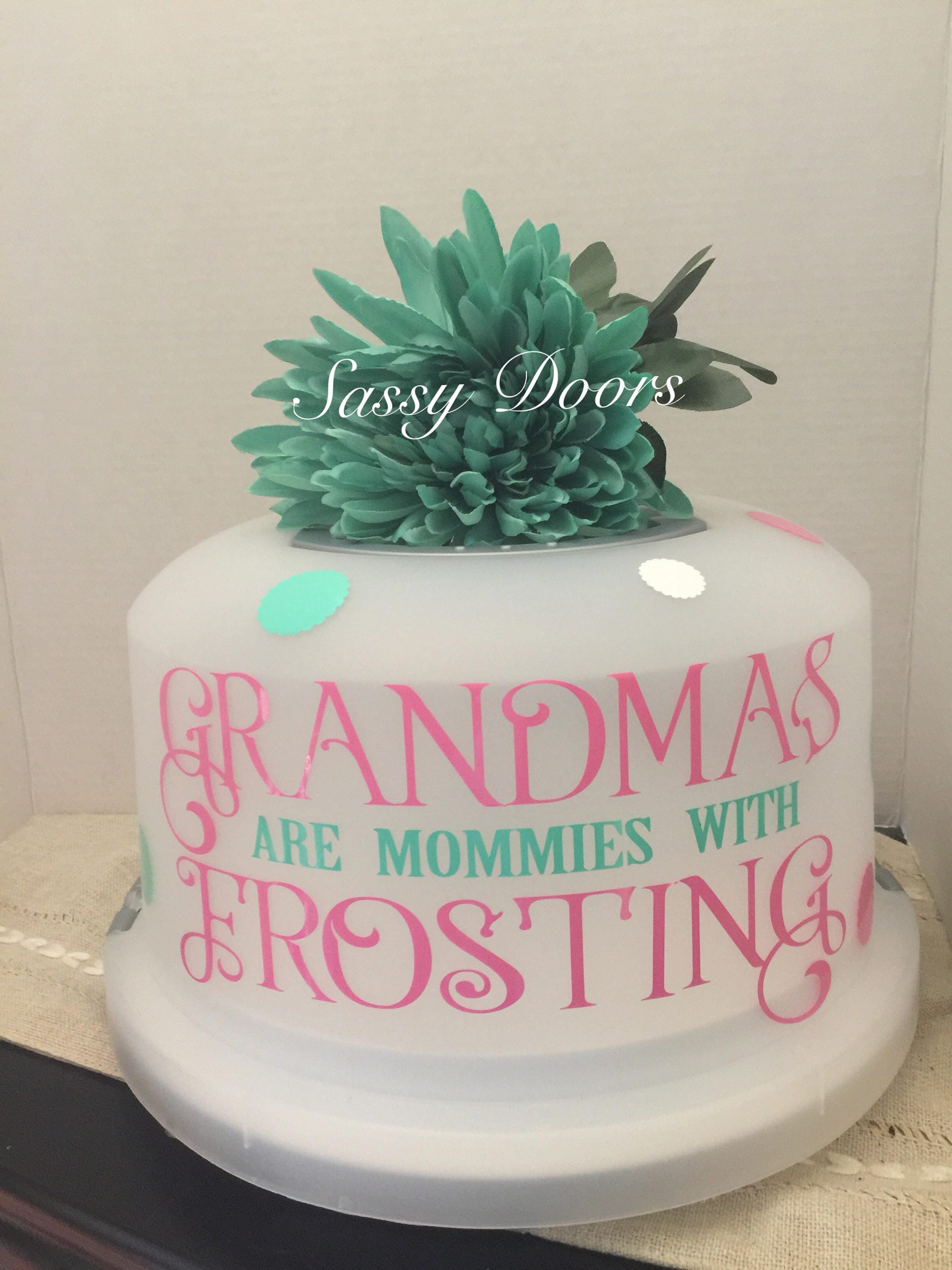 Free shipping cake cover cake carrier grandparents gift gifts free shipping cake cover cake carrier grandparents gift gifts for mom home decor kitchen decor personalized gift negle Images