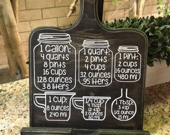 Conversion Chart,kitchen conversion,kitchen chart,kitchen measurements,Cookbook Holder,Measurements,Cooking Measurements,Tablet Holder