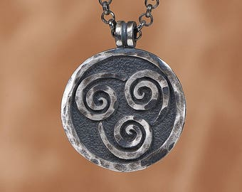 925 Sterling Silver Avatar Last Airbender Air Nomad Nation Necklace Pendant