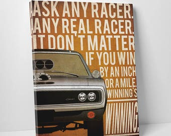 The Fast and The Furious poster fast and furious canvas alternative poster Dodge Charger poster car Dominic Toretto Vin Diesel Paul Walker