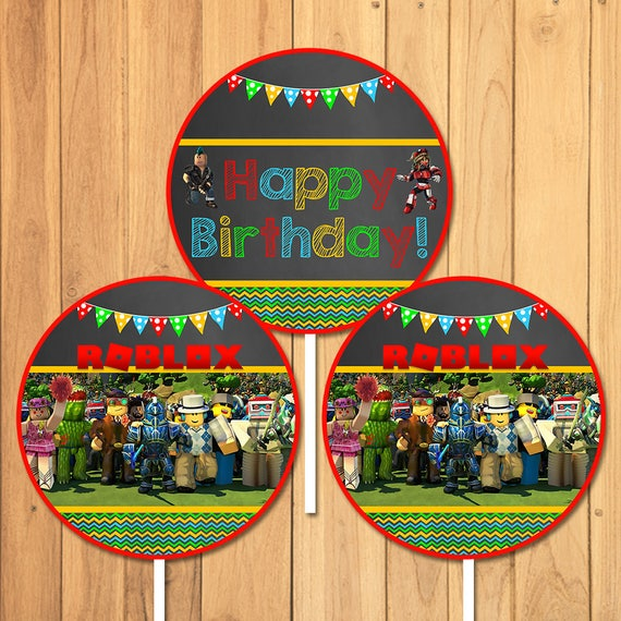 Roblox Centerpiece Custom Party Printables