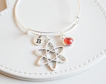 Atom Bracelet,Atom Gift, Scientific Bracelet, Scientific gift for her, Science bracelet, Atomic, Chemistry, physics, Biology, Minimalist