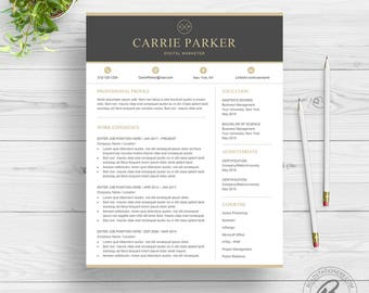 Professional Resume Template for Word | Creative Resume Design | Two Page Resume Download | Modern Resume Template | CV Template for Word