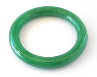 Dark Green Jade Bangle Bracelet