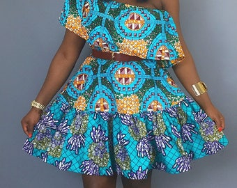 African mix print off shoulder dress,african clothing,robe wax,off shoulder dress,Ankara dress,african prints