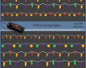 String Lights Tiger : STRING OF SEASHELLS 2 Kinds of Seashells Strands Small White or Tiger & White Shells from ...