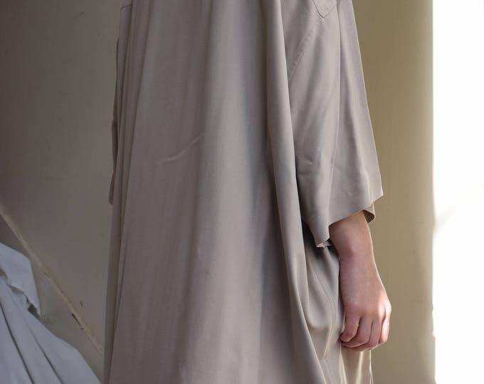 Oversized Silk Short Sleeve Shirt  | Print Optional