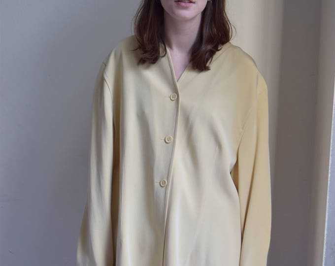 Oversized Cream Silk Jersey  |  Print Optional