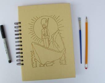 Hans Christian Andersen Fairy Tales vintage book journal - art journal, junk journal, smash book - upcylced hardcover book journal