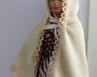 Free shipping! Poncho for dolls, no velcro.