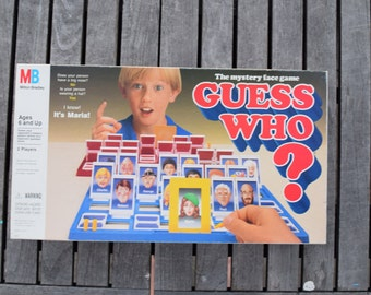 Vintage 1991 Guess Who Board Game Mystery Face Game Complete Milton Bradley Children's Card Fun Detective 1990s 1980s