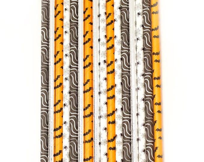 Halloween Straw Spider Straw, Decorative Straw, Buffet, Paper Straw, Orange Black Bat Spider Decor Silver Halloween Harvest Haunted Spooky
