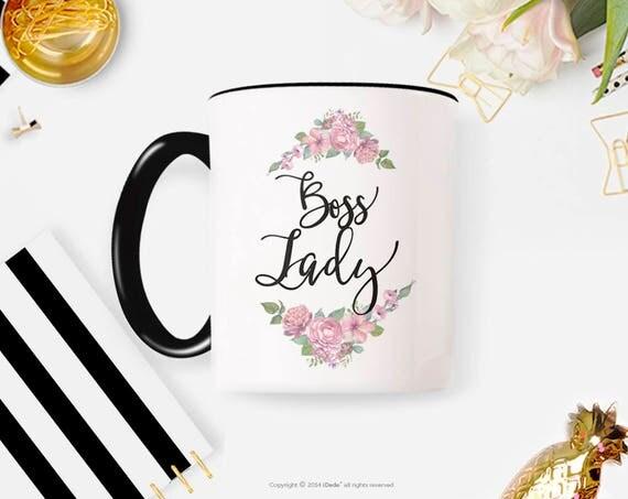 Boss lady Mug, boss mug, Like a boss Mug, Mug gift, mom mug, friend gift, boss mug, coffee mug, Cute mug, lettered 33G