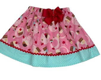 Girl skirt, cup cake skirt,  school girl skirt,  Girl Skirt,  Girl birthday skit,  baby Skirt , Toddle  skirt, Skirts
