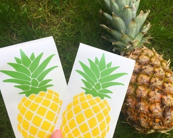 Classic Pineapple Decal Sticker Car Decal Yeti Water Bottle Laptop Macbook Stickers Preppy Prep Southern Beach Tropical Fruit Summer Girly