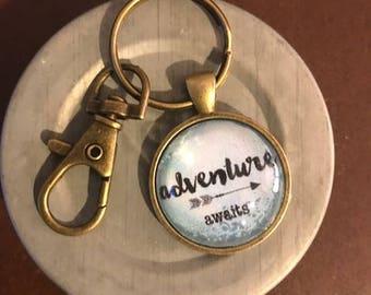 Adventure Awaits Keychain