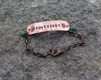 Adventure word bracelet