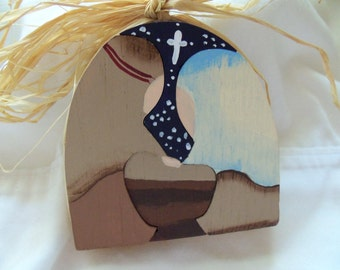 Mary, Joseph and Jesus Puzzle Ornament