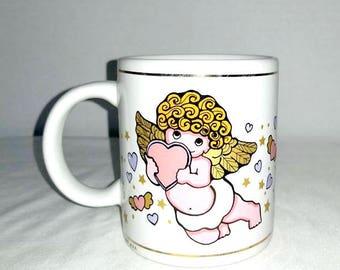 Vintage Angel Coffee Mug,Cherub Mug,Cherubs,Angel Cup,Angel Wings,Angel Mug,Cherub Cup,Celestial,Coffee Mug,Coffee Cup,Hearts,Angels,1990s