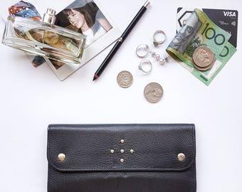 Laneway Wallet - Black Leather