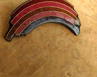 Retro Broche - Purple - Pink - Rainbow Shape - Modern Jewelry
