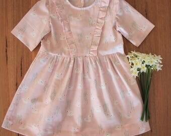 Girls Dress Size 2 and 3 / Ruffle Dress / kids clothing / babies clothing  / Party Dress  Summer Dress 2T  24 months 3T