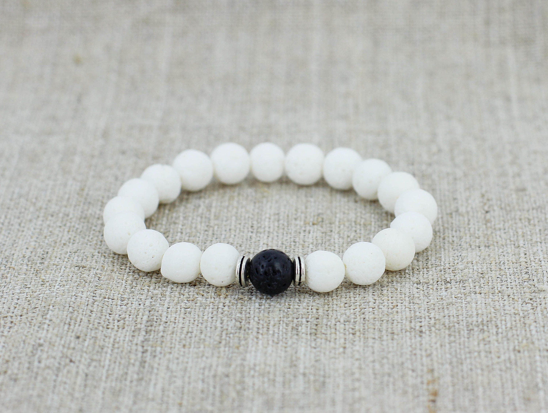 Wedding favors for bridesmaid gift for groomsmen gift White bracelet ...