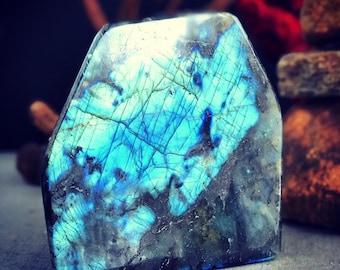 5.52lb blue flash labradorite display piece