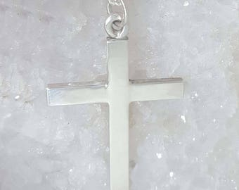 Hand Crafted Sterling Silver Cross Pendant