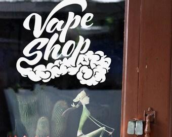 Wall Window Decal Sticker Vape Shop Vaping Vape Store Logo 1845t